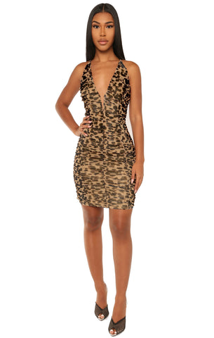 pounce back dress- print - Icon
