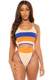 stripe where i belong bikini-tan - Icon