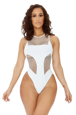 beach skies swimsuit-white