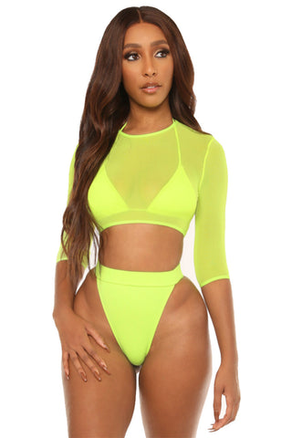 catch a break hikini-neon yellow - Icon