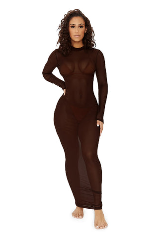 club paradise coverup-chocolate