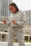 work it out hoodie-heather grey - Icon