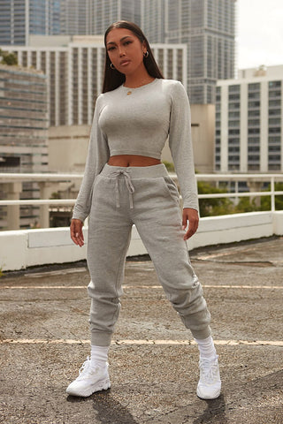 break a sweat joggers-heather grey