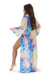 festival vibes coverup-blue tiedye - Icon