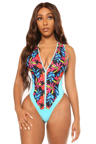 flow with me swimsuit- print - Icon
