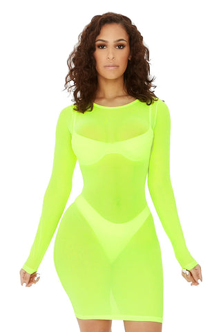 forget me not coverup-neon yellow