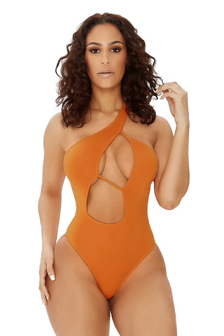 good vibes only swimsuit-orange