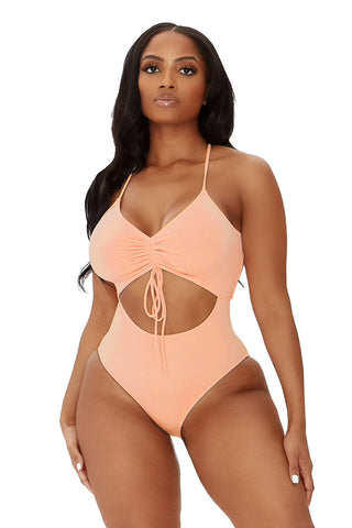 hole in one swimsuit-pink