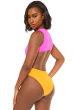 hole lotta love swimsuit-pink - Icon