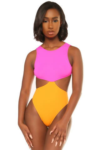 hole lotta love swimsuit-pink