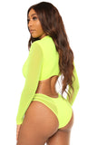 hooked on you bikini- neon green - Icon