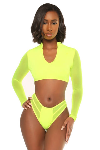 hooked on you bikini- neon green