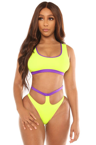 feelin like a star bikini-neon yellow - Icon