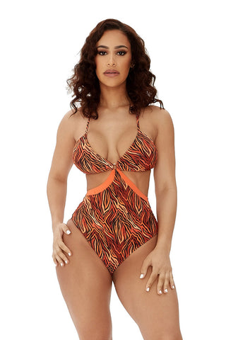 wild waters swimsuit-multizebra print - Icon
