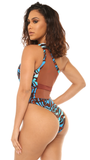 blue dream swimsuit-blue print - Icon