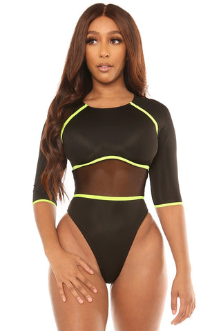 back in action swimsuit-black - Icon