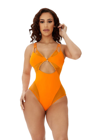 malibu swimsuit-orange - Icon