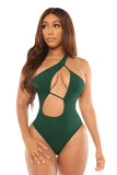 good vibes only swimsuit-green - Icon