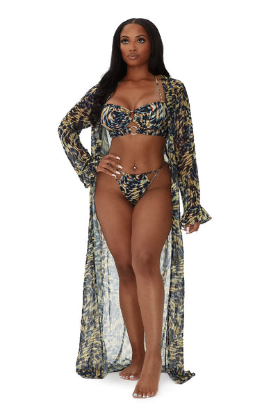 islander coverup-brown/blue multiprint - Icon