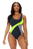 it's anyone's game swimsuit-green - Icon