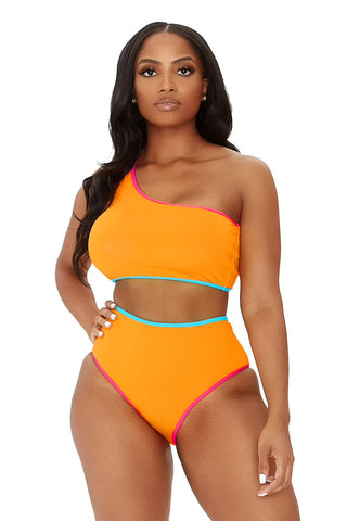 just keep swimming bikini-orange