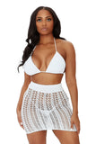 just my type skirt set-white