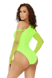 long time no sea swimsuit-neon green - Icon