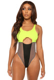 met your match monokini-neon green - Icon
