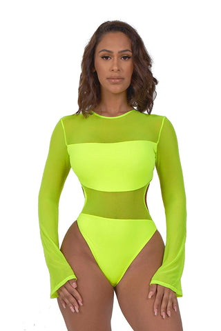 eternal sunshine swimsuit-neon yellow - Icon