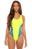 no strings attached swimsuit-neon yellow - Icon