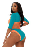 one stop swimsuit-teal - Icon