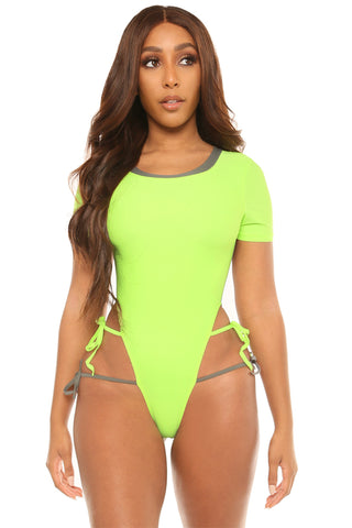 paradise lost swimsuit-green