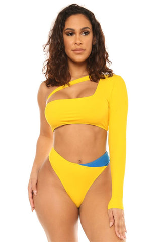 pick a side bikini-yellow - Icon