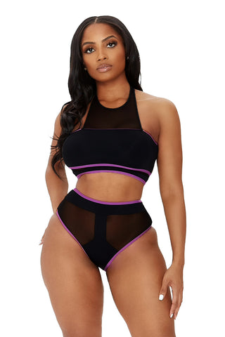sea right through you bikini-black - Icon