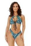 seaside retreat bikini-blue zebra - Icon