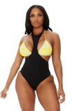 set 'em straight swimsuit-multicolor - Icon