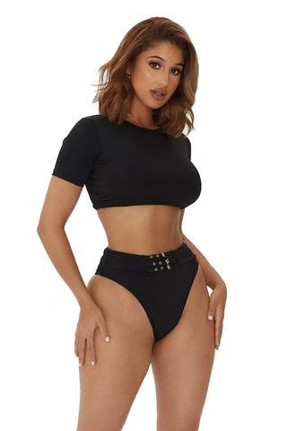 smooth sailing bikini-black
