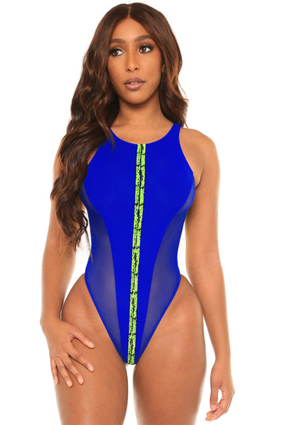take the lead swimsuit-blue - Icon