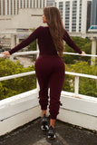 break a sweat joggers-burgundy - Icon