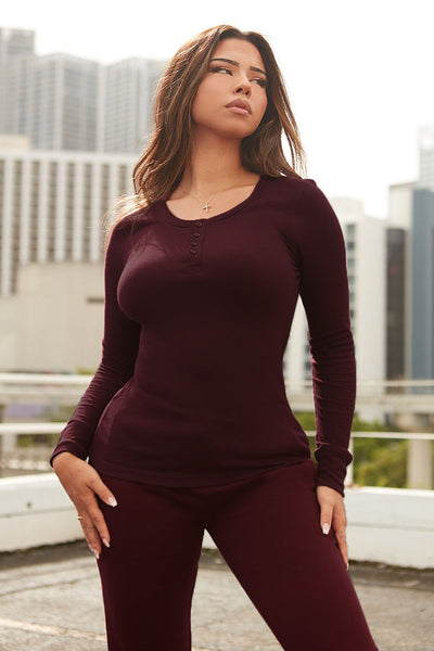 game ready thermal top-burgundy