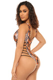 time to strike monokini-orange print - Icon
