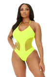 totally beachin swimsuit-neon yellow - Icon