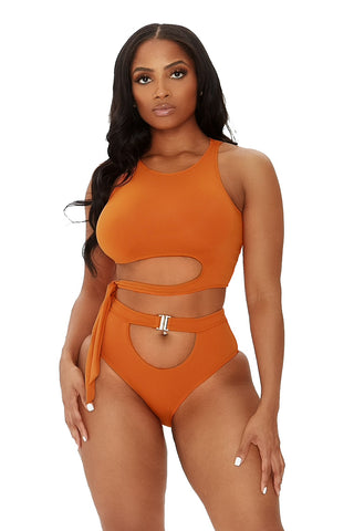 wrapped around me bikini-burnt orange