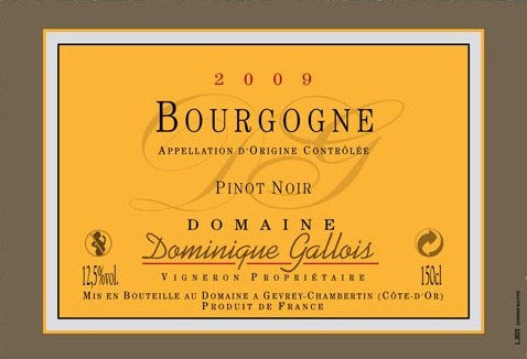 Dominique Gallois Bourgogne  2012