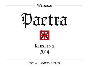 Paetra  Eola-Amity Hills Riesling 2014
