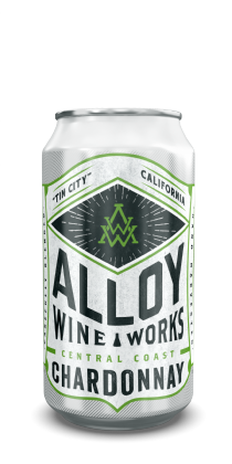 "Alloy Wine Works ""Tin City"" Central Coast Chardonnay 375ml Can"