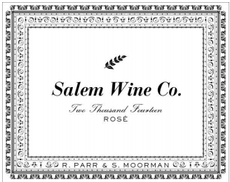 Salem Wine Co Eola Amity Pinot Noir Rose 2014