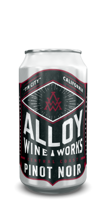 "Alloy Wine Works ""Tin City"" Central Coast Pinot Noir 375ml Can"
