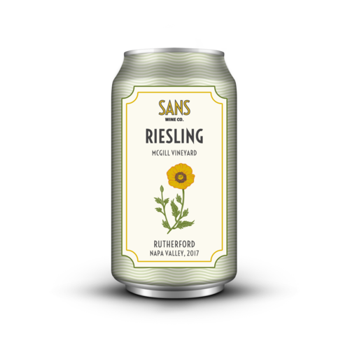 Sans Wine Co Rutherford Riesling 2017 375ml Can