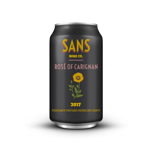 Sans Wine Co Poor Ranch Vineyards Mendocino Rose of Carignan 2017 375ml Can